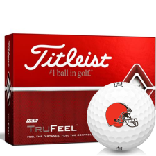 Titleist TruFeel Cleveland Browns Golf Balls