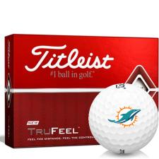 Titleist TruFeel Miami Dolphins Golf Balls