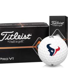 Titleist Pro V1 Half Dozen Houston Texans Golf Balls - 6 Pack