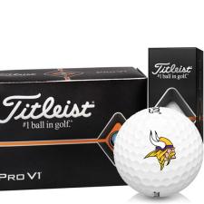 Titleist Pro V1 Half Dozen Minnesota Vikings Golf Balls - 6 Pack