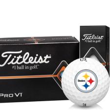 Titleist Pro V1 Half Dozen Pittsburgh Steelers Golf Balls - 6 Pack
