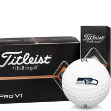 Titleist Pro V1 Half Dozen Seattle Seahawks Golf Balls - 6 Pack