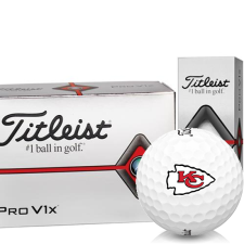 Titleist Pro V1x Half Dozen Kansas City Chiefs Golf Balls - 6 Pack