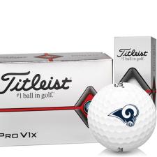 Titleist Pro V1x Half Dozen Los Angeles Rams Golf Balls - 6 Pack