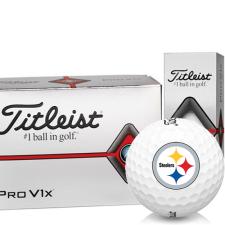 Titleist Pro V1x Half Dozen Pittsburgh Steelers Golf Balls - 6 Pack