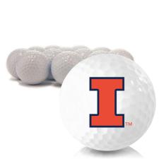 Blank Illinois Fighting Illini Golf Balls