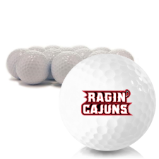 Blank Louisiana Ragin' Cajuns Golf Balls