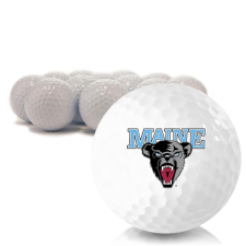Blank Maine Black Bears Golf Balls