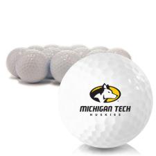 Blank Michigan Tech Huskies Golf Balls