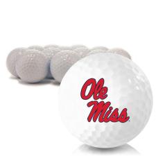 Blank Ole Miss Rebels Golf Balls