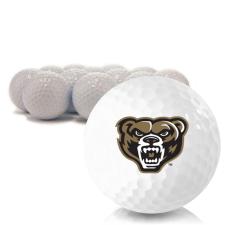 Blank Oakland Golden Grizzlies Golf Balls