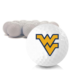 Blank West Virginia Mountaineers Golf Balls
