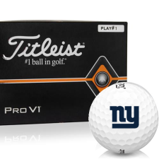 Titleist Pro V1 Player Number New York Giants Golf Balls - All #1's