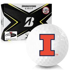 Bridgestone Tour B X Illinois Fighting Illini Golf Balls