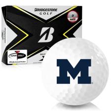 Bridgestone Tour B X Michigan Wolverines Golf Balls