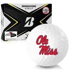 Bridgestone Tour B X Ole Miss Rebels Golf Balls