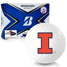 Bridgestone Tour B XS Illinois Fighting Illini Golf Balls