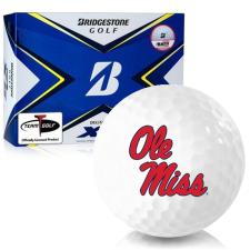 Bridgestone Tour B XS Ole Miss Rebels Golf Balls
