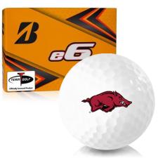 Bridgestone e6 Arkansas Razorbacks Golf Balls