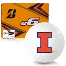Bridgestone e6 Illinois Fighting Illini Golf Balls