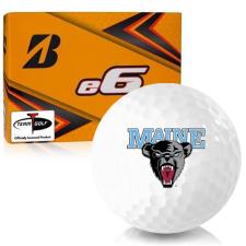 Bridgestone e6 Maine Black Bears Golf Balls