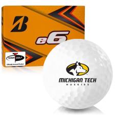 Bridgestone e6 Michigan Tech Huskies Golf Balls