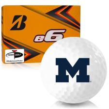 Bridgestone e6 Michigan Wolverines Golf Balls