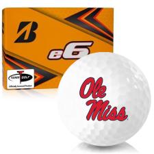 Bridgestone e6 Ole Miss Rebels Golf Balls