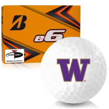 Bridgestone e6 Washington Huskies Golf Balls