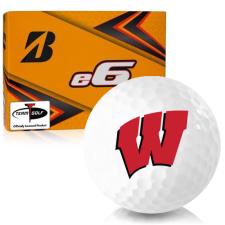 Bridgestone e6 Wisconsin Badgers Golf Balls