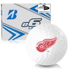Bridgestone e6 Lady Detroit Red Wings Golf Balls