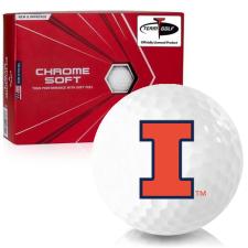 Callaway Golf Chrome Soft Illinois Fighting Illini Golf Balls
