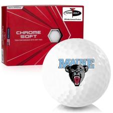 Callaway Golf Chrome Soft Maine Black Bears Golf Balls