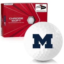Callaway Golf Chrome Soft Michigan Wolverines Golf Balls