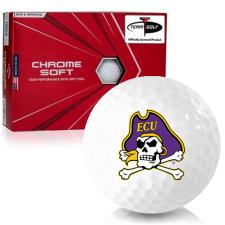 Callaway Golf Chrome Soft Triple Track East Carolina Pirates Golf Balls