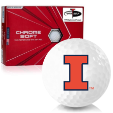 Callaway Golf Chrome Soft Triple Track Illinois Fighting Illini Golf Balls