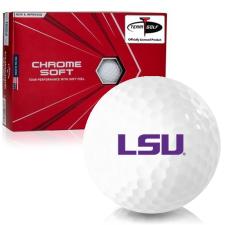 Callaway Golf Chrome Soft Triple Track LSU Tigers Golf Balls