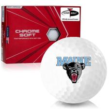 Callaway Golf Chrome Soft Triple Track Maine Black Bears Golf Balls
