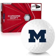 Callaway Golf Chrome Soft Triple Track Michigan Wolverines Golf Balls