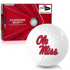 Callaway Golf Chrome Soft Triple Track Ole Miss Rebels Golf Balls