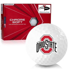 Callaway Golf Chrome Soft Triple Track Ohio State Buckeyes Golf Balls