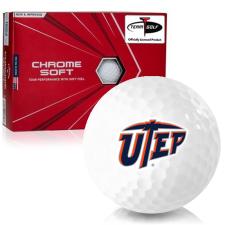 Callaway Golf Chrome Soft Triple Track Texas El Paso Miners Golf Balls