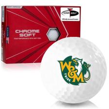 Callaway Golf Chrome Soft Triple Track William & Mary Tribe Golf Balls