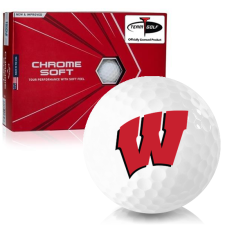 Callaway Golf Chrome Soft Triple Track Wisconsin Badgers Golf Balls