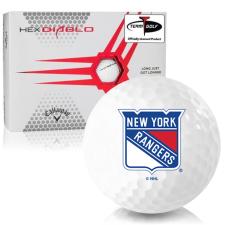 Callaway Golf HEX Diablo New York Rangers Golf Balls