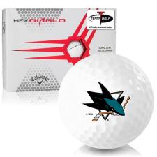 Callaway Golf HEX Diablo San Jose Sharks Golf Balls