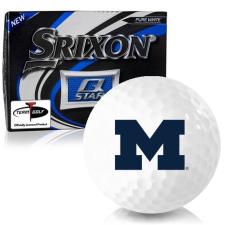 Srixon Q-Star Michigan Wolverines Golf Balls