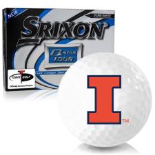 Srixon Q-Star Tour 3 Illinois Fighting Illini Golf Balls