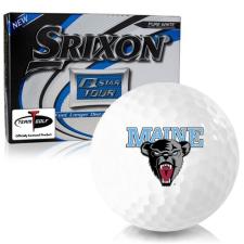 Srixon Q-Star Tour 3 Maine Black Bears Golf Balls