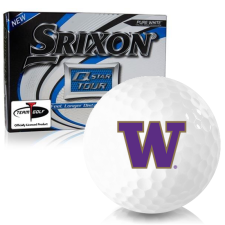 Srixon Q-Star Tour 3 Washington Huskies Golf Balls